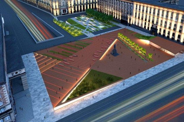 Как будет выглядеть Триумфальнаяплощадь: Три концепции финалистов. Изображение № 8.