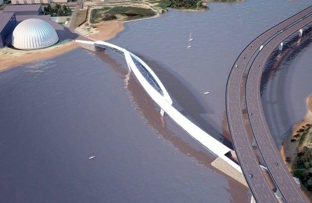Через Неву предлагают построить двухъярусный мост с магазинами и ресторанами. Изображение № 1.