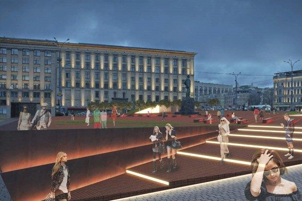 Как будет выглядеть Триумфальнаяплощадь: Три концепции финалистов. Изображение № 7.
