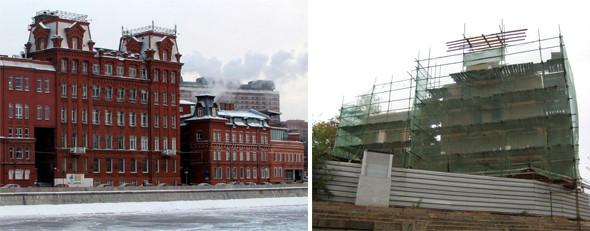 Три здания под охраной. Слева: Берсеневская набережная, дом 8, строение 1; соседнее здание — дом 6, строение 3. Справа: Императорский яхт-клуб, дом 2 строение 1. . Изображение № 32.