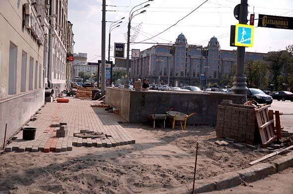 Свежая укладка: как асфальт меняют на плитку в Москве. Изображение № 6.