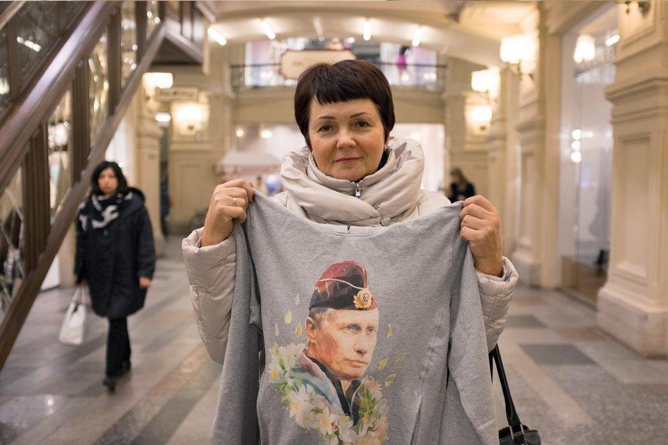 Съёмный патриотизм: Кто и зачем покупает одежду с Путиным. Изображение № 19.