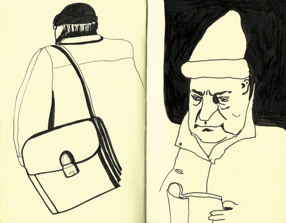 Выставка «Москва вэскизах LAM Sketching Club» впарке «Музеон». Изображение № 14.