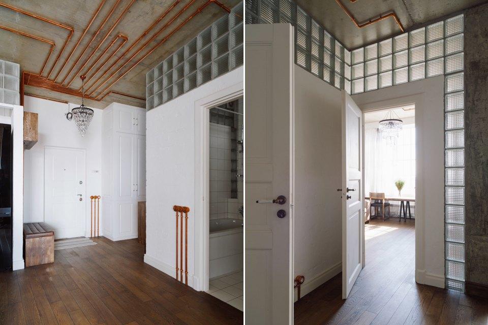 Трёхкомнатная квартира виндустриальном стиле. Изображение № 6.
