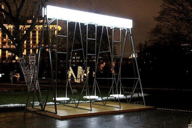 Световые качели в парке «Музеон». Изображение № 3.