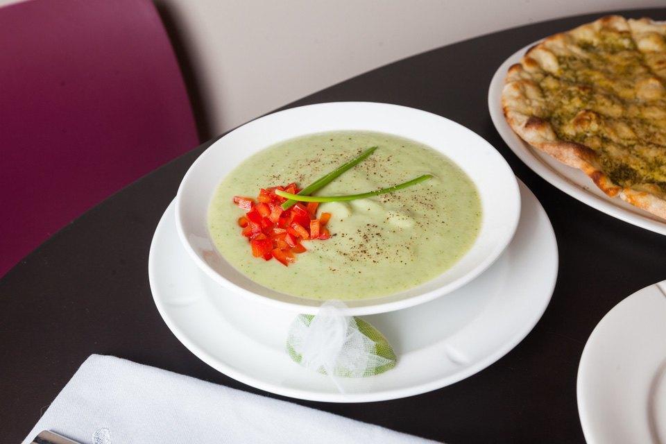 Суп с авокадо и огурцом — 280 рублей. Изображение № 13.