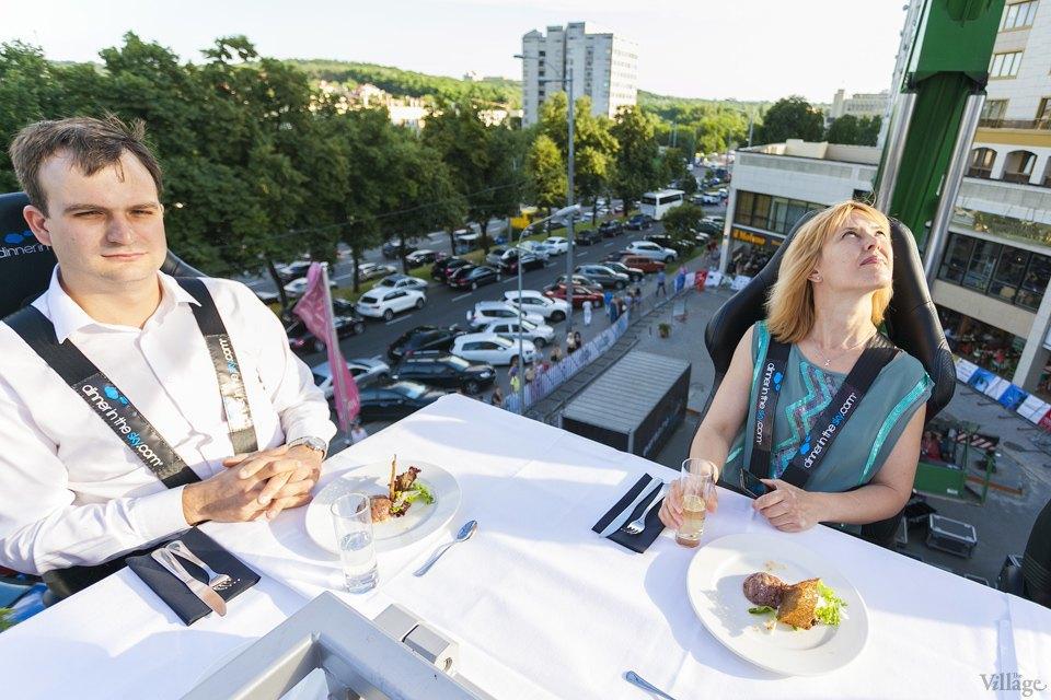Фоторепортаж: Dinner in the Sky в Киеве. Зображення № 12.