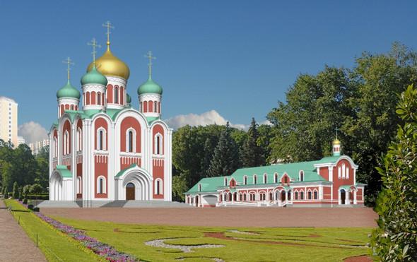 Модульный храм на 500 человек, цветной вариант . Изображение № 4.
