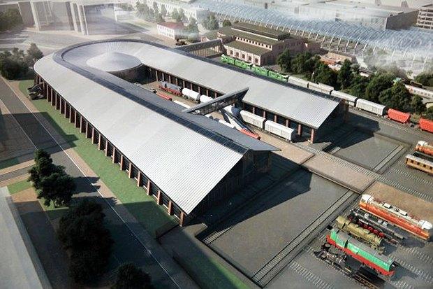 Опубликован проект железнодорожного музея на Балтийском вокзале. Изображение № 2.