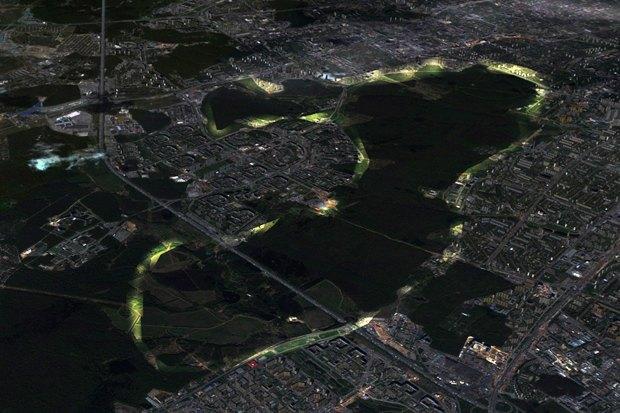 Как могли бы быть организованы зоны вдоль парков. Изображение № 18.