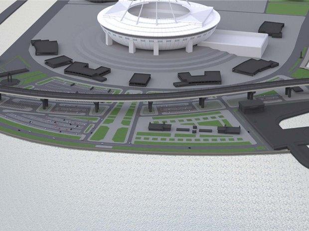 Опубликована часть проекта набережной около «Зенит-арены». Изображение № 1.