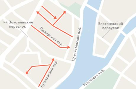 Шесть улиц в Хамовниках станут односторонними. Изображение № 1.