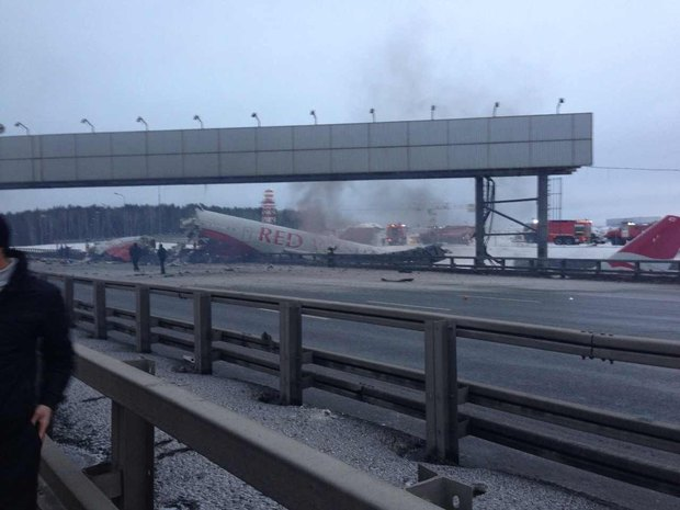 Аэропорт Внуково закрыли из-за аварии самолёта. Изображение № 1.
