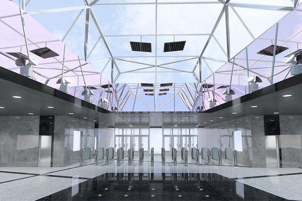 Станцию «Технопарк» оформят в индустриальном стиле. Изображение № 1.