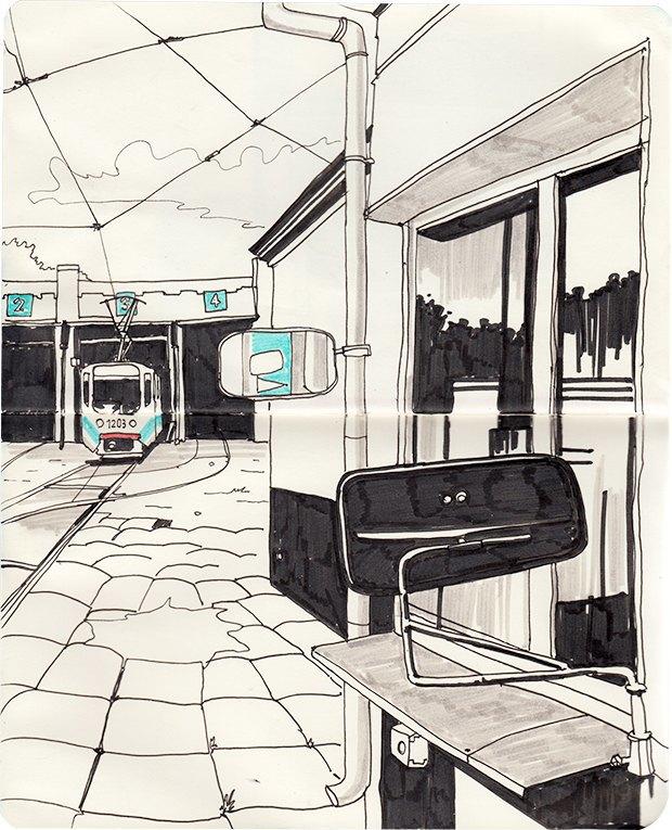 Клуб рисовальщиков: Московские трамваи. Изображение № 8.