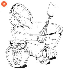 Вегетарианская брускетта стофу в медово-горчичном соусе с лисичками. Изображение № 5.