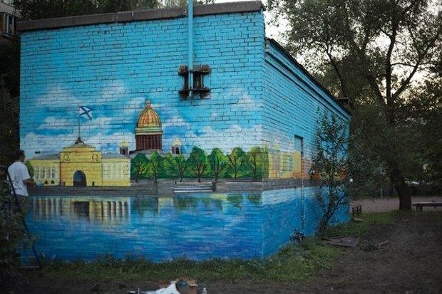 Нарушения благоустройства стали расписывать граффити . Изображение № 4.