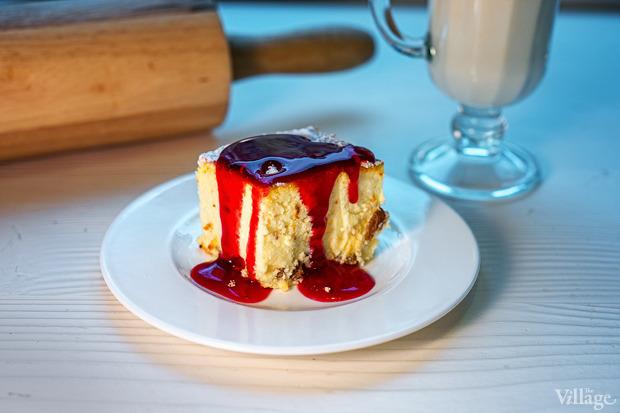 Сухой сырник под ягодным соусом, 100 г — 19 грн.. Изображение №13.