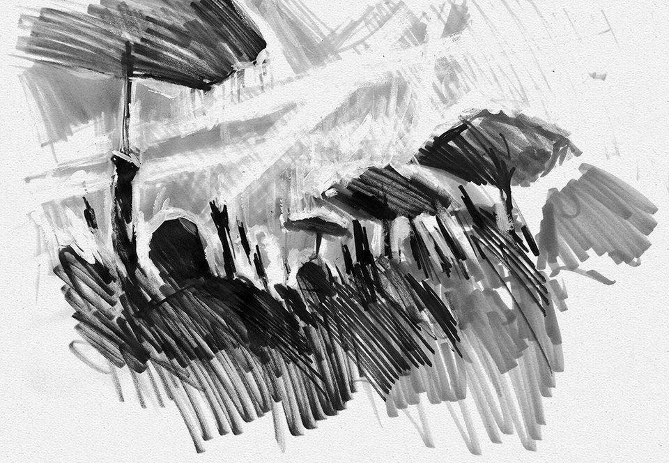 Клуб рисовальщиков: Концерт Woodkid впарке Горького. Изображение № 3.