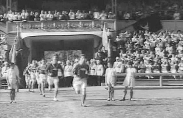 Кадр из фильма «Вратарь», снятого на «Динамо» в 1936 году. Изображение № 7.