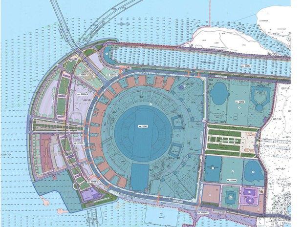 Опубликована часть проекта набережной около «Зенит-арены». Изображение № 9.
