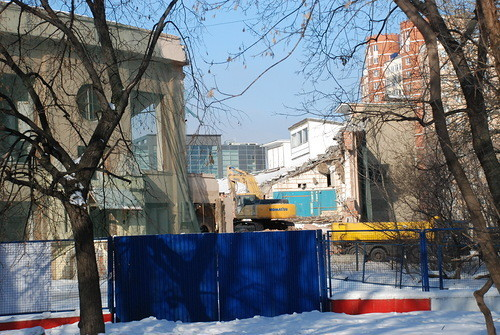 """Снос стадиона """"Динамо"""", 10 февраля 2012 года, фотографии: """"Архнадзор. Изображение № 2."""