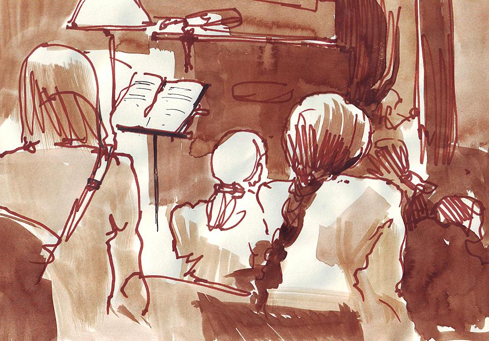 Клуб рисовальщиков: Музыканты. Изображение № 1.