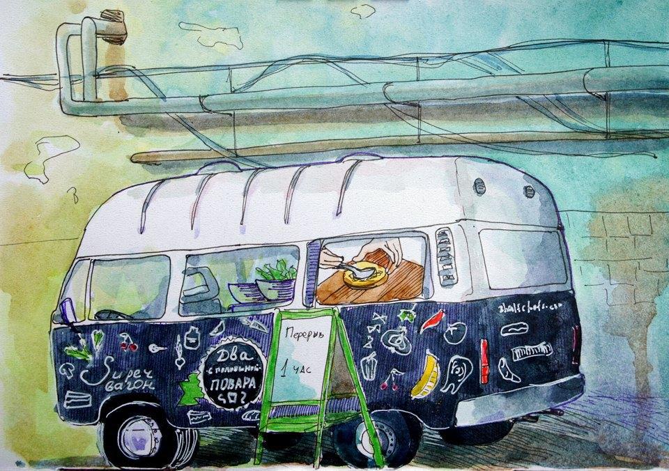 Клуб рисовальщиков: Городской маркет еды на Соколе. Изображение № 7.