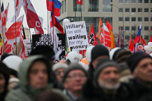 Митинг «За честные выборы» на проспекте Сахарова: Фоторепортаж, пожелания москвичей и соцопрос. Изображение № 24.
