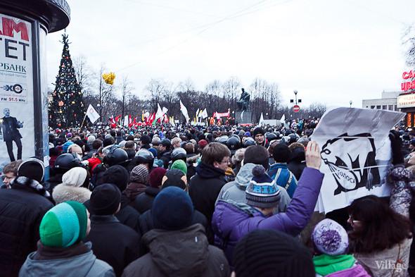 Фоторепортаж: Митинг против фальсификации выборов в Петербурге. Изображение № 18.