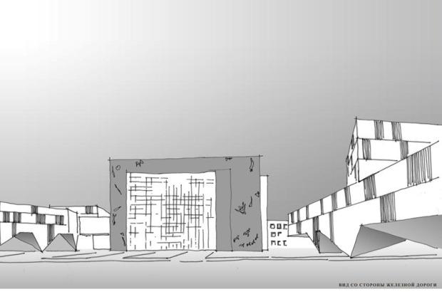 Архитектурное решение комплекса фондохранилища. Вариант 1. Изображение № 3.