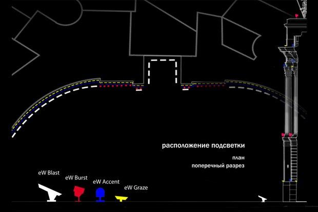 На ночь глядя: 12 проектов подсветки Главного штаба. Изображение № 32.
