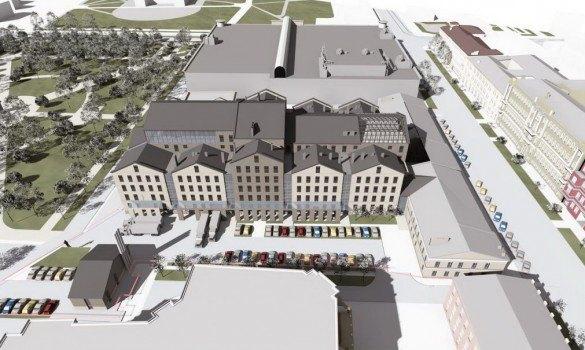 Мастерская Мамошина представила проект нового здания МДТ. Изображение № 2.