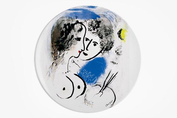 Тарелка из серии Marc Chagall, Bernardaud, 30 970 р. за набор из шести тарелок.. Изображение № 27.