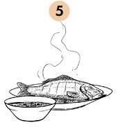 Рецепты шефов: Запечённый с травами карп с соусом из оливок и томатов. Изображение №8.
