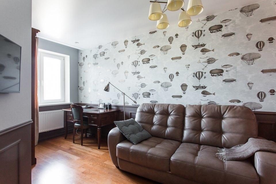 Большая квартира для семьи на«Нагатинской» с кабинетом илимонной ванной. Изображение № 33.