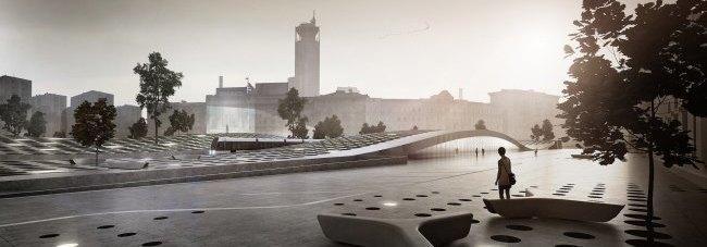 На Павелецкой площади появятся подземный центр итерминал «Аэроэкспресса». Изображение № 2.