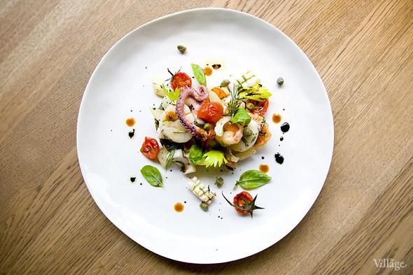Салат из морепродуктов с печеным баклажаном. Изображение № 27.