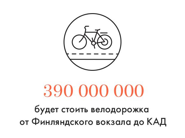 Цифра дня: Стоимость велодорожки от Финляндского вокзала до КАД. Изображение № 1.