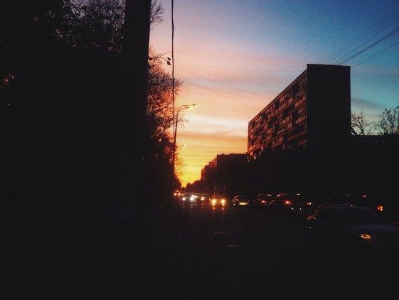 Осенний закат вМоскве. Изображение № 5.