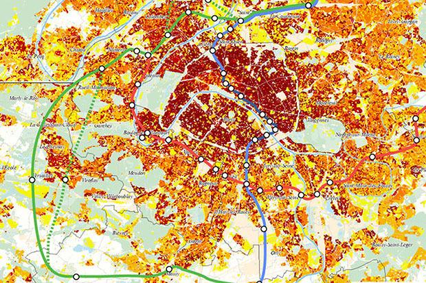 Плотность населения в регионе. Сложнее всего ситуация в историческом центре Парижа. Изображение № 18.