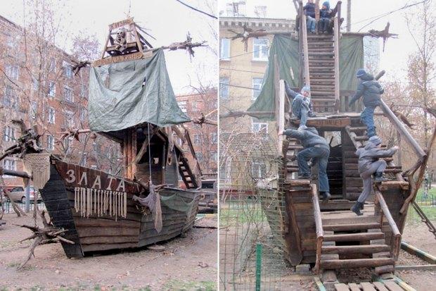 В Кунцеве снесут детскую горку, установленную местным жителем. Изображение № 2.