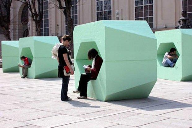 В парке Горького установят скамейки-конструкторы из Вены. Изображение № 4.