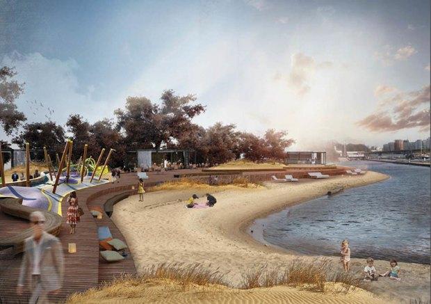 Опубликована визуализация набережной южной части Крестовского острова без ресторанов. Изображение № 6.