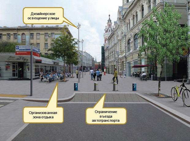 Этапы работы на Николькой улице. Слайды предоставлены правительством Москвы. Изображение № 4.