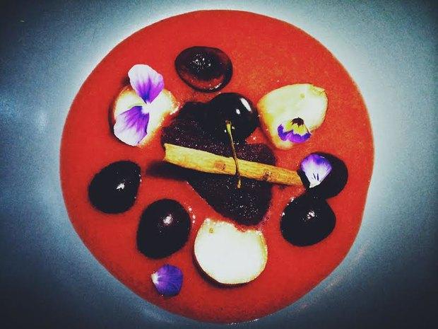 Персиковая сангрия c черешней и сорбетом «фраголино» . Изображение № 7.
