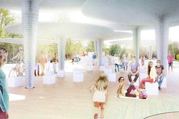 «Гараж» построит летний павильон в парке Горького. Изображение № 1.