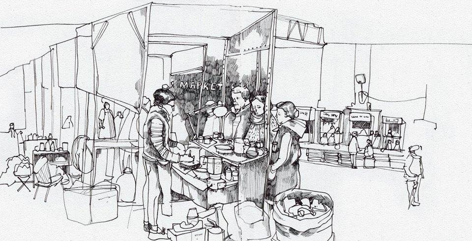 Клуб рисовальщиков: Городской маркет еды на Соколе. Изображение № 8.