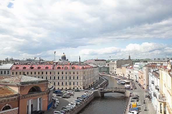 Вид с крыши здания на Мойке, 7. Изображение № 2.