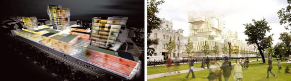 Несостоявшаяся концепция бизнес-комплекса на Цветном бульваре, Москва, Россия, разработана в 2004 году. Изображение № 10.